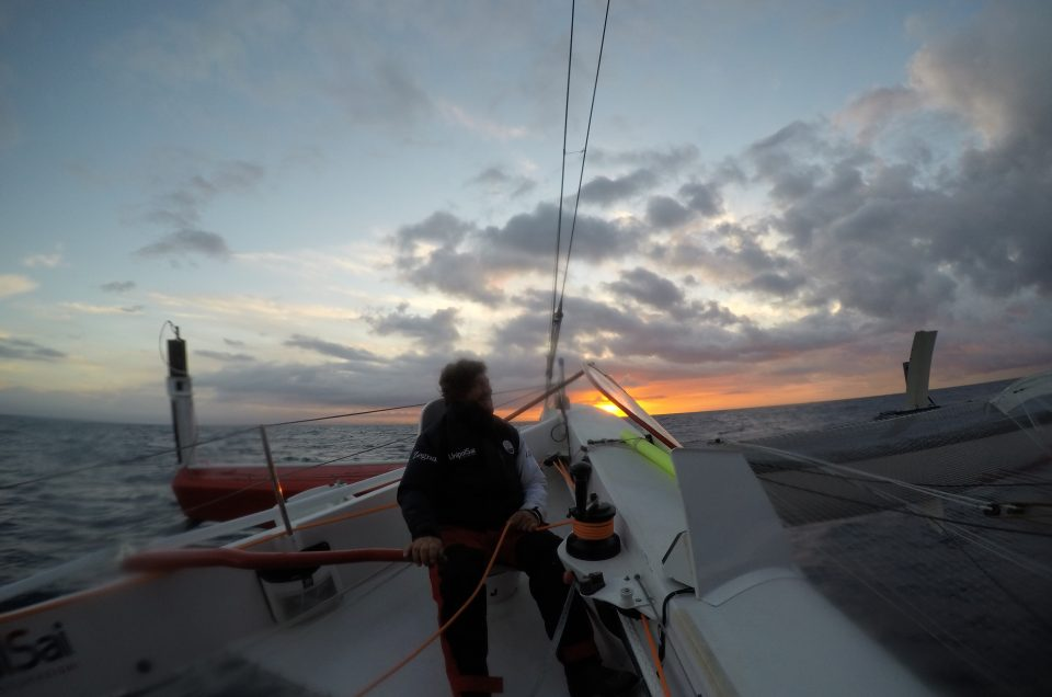 Heading West at 13 knots