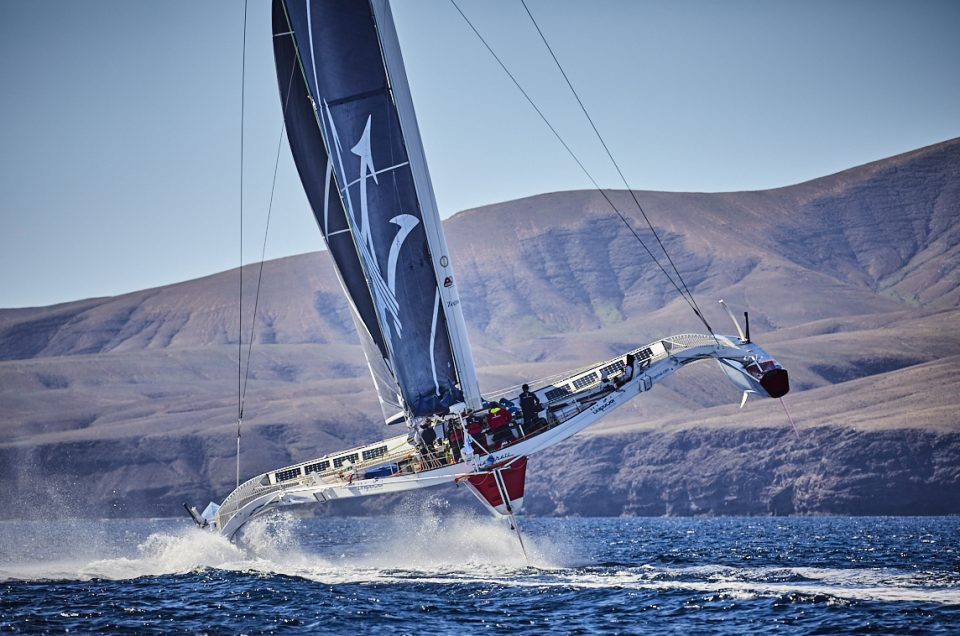 RORC: Maserati Multi70 points bows north