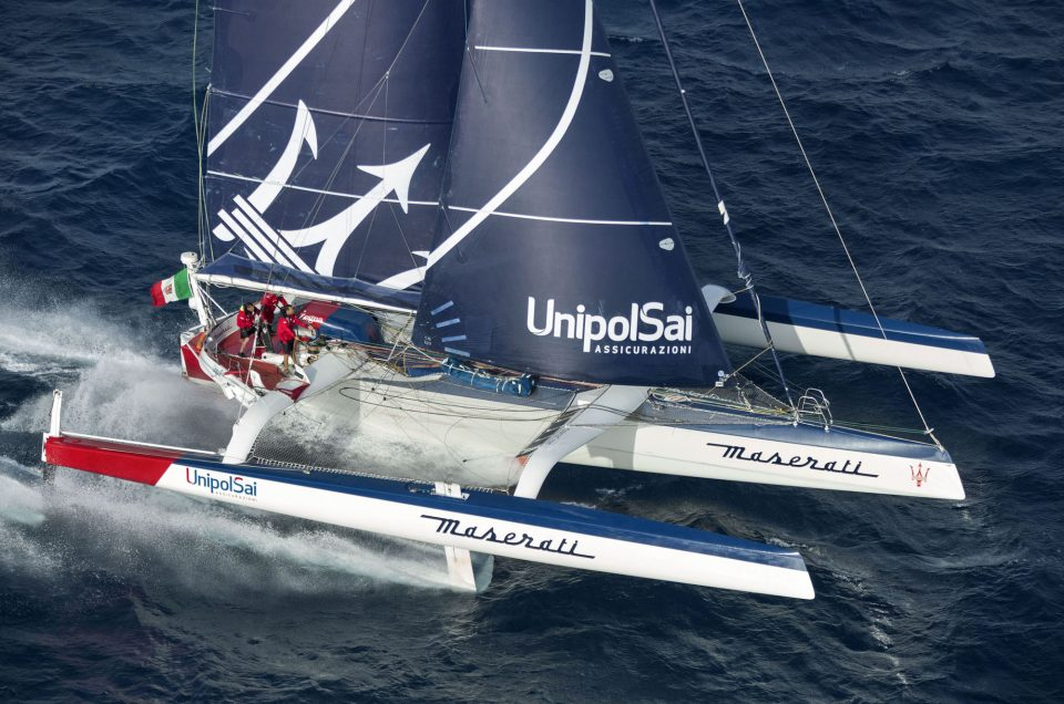 Giovanni Soldini's Multi70 trimaran Maserati Multi70 to compete in two classic offshore races in 2017