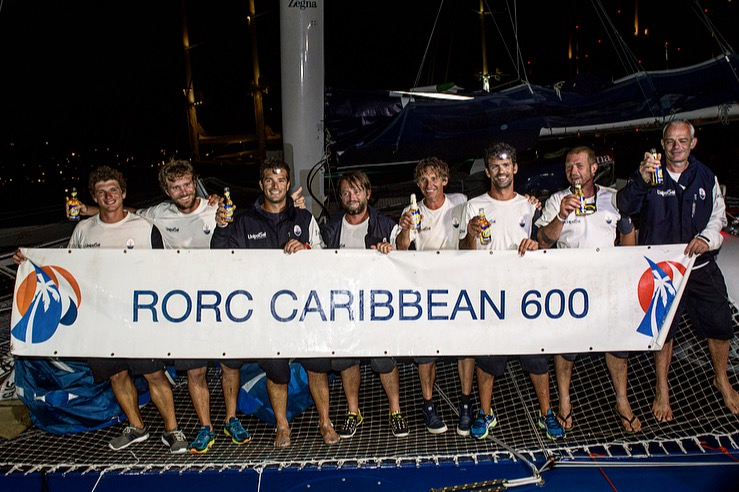 Maserati Multi70 crossed the finish line of the RORC Caribbean 600