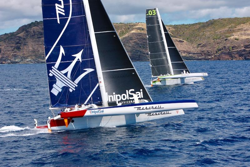 Maserati Multi70 finishes a close second in the ninth RORC Caribbean 600 race