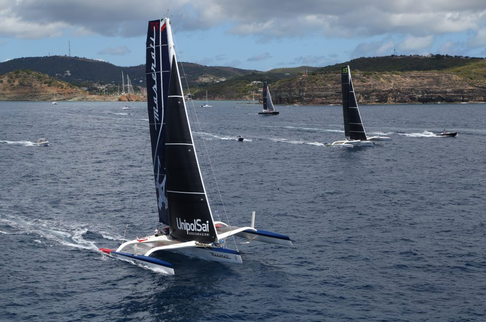 Lighter winds put Maserati Multi70 13 miles behind Phaedo3