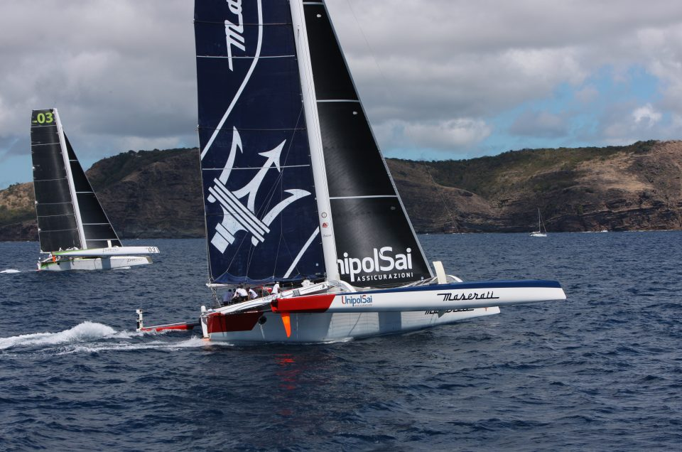 Maserati Multi70 fights for the lead in RORC Caribbean 600 Race