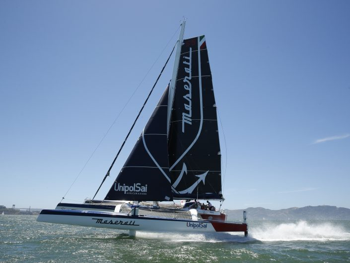 Maserati Multi70 in San Francisco reached a speed of 44.56 knots