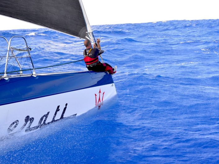 Maserati Multi70 is travelling towards Japan