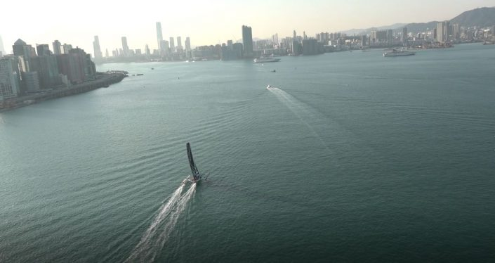 Maserati Multi70 - Start for the Hong Kong-London Record
