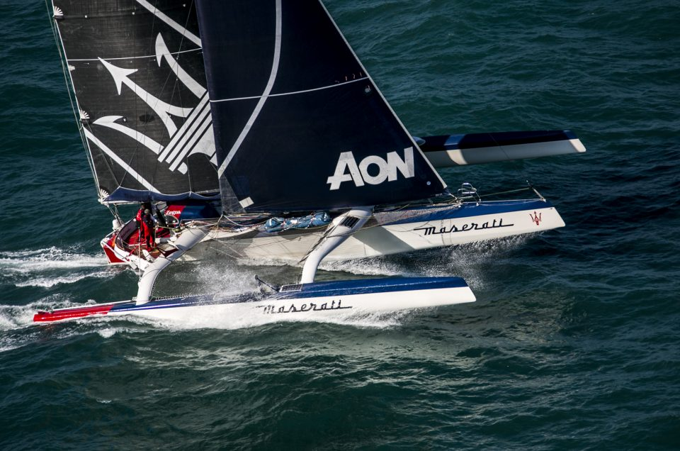 Maserati Multi70 set sail to conquer the record on the Hong Kong-London route