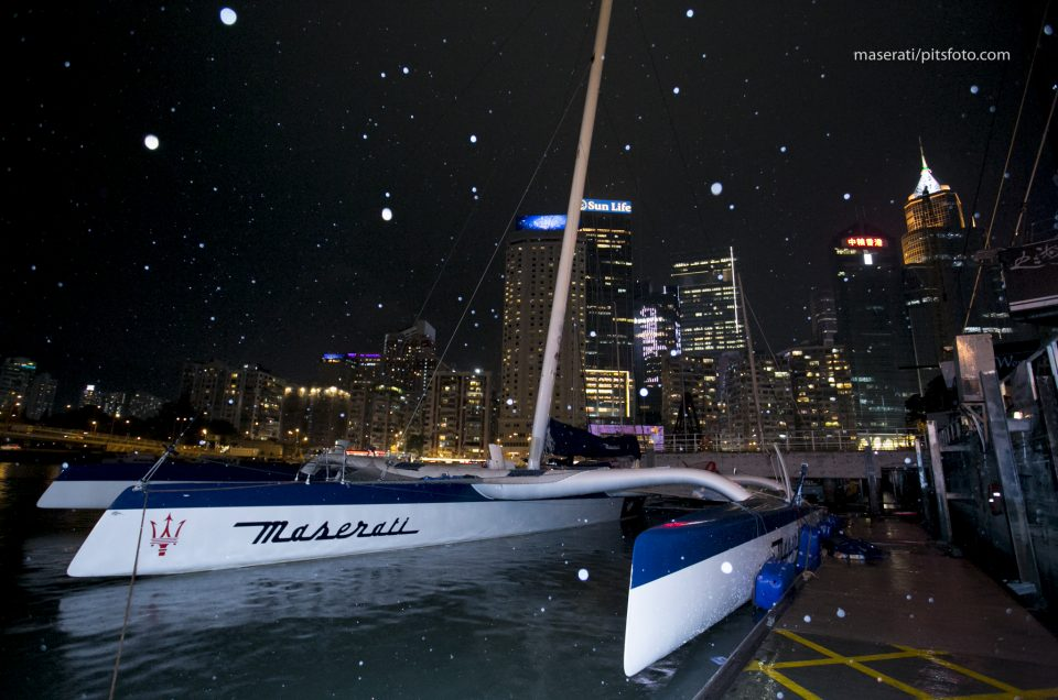 Maserati Multi70 is waiting for the best weather to set sail