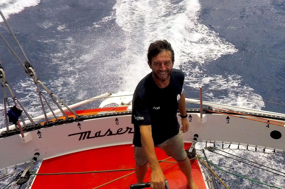 Hong Kong-London / Maserati Multi70 sails towards Cape of Good Hope