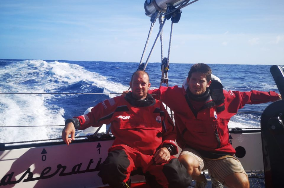 Maserati Multi 70 on the homestretch to Grenada