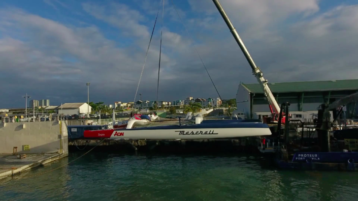 Maserati Multi 70 - Back in the water in Guadeloupe