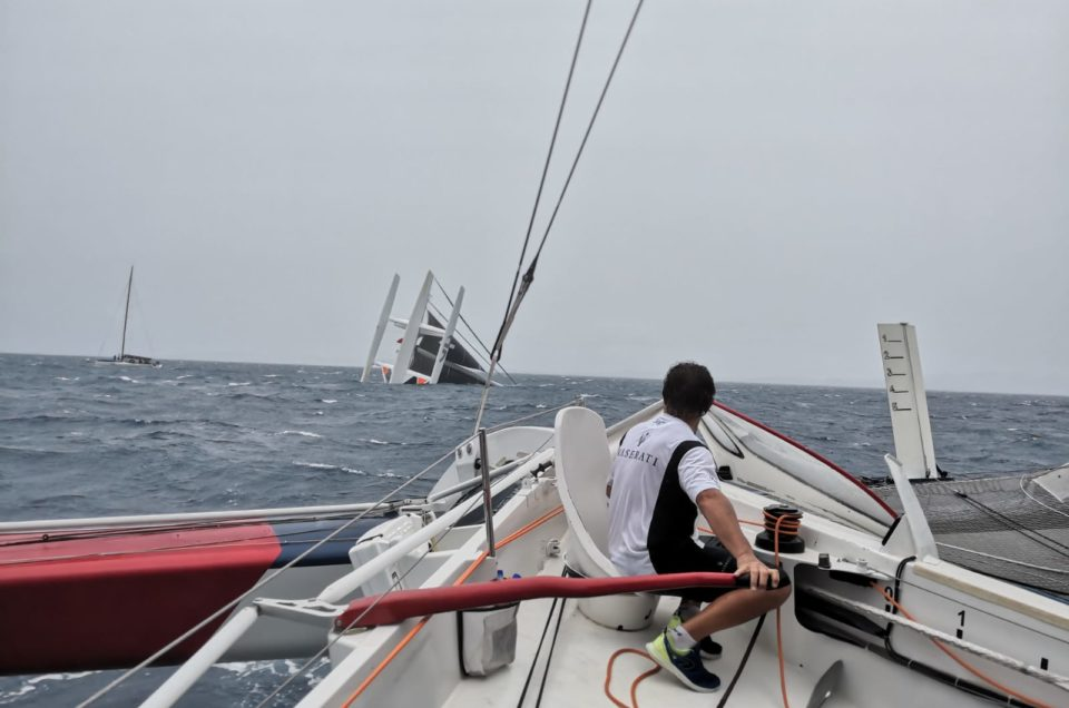 Argo capsized South of Antigua, the crew is safe
