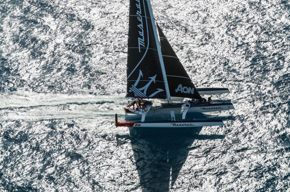 It's a record: Maserati Multi 70 crosses first the finish line of the RORC Caribbean 600