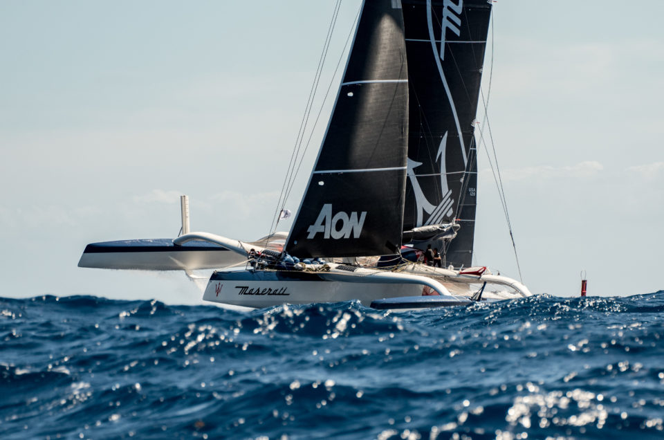 Maserati Multi 70 in first place West of Guadeloupe