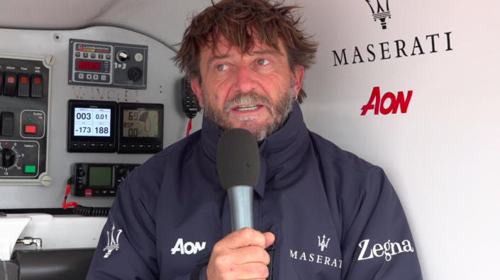 Maserati Multi 70 - CA 500 - Interview before the start