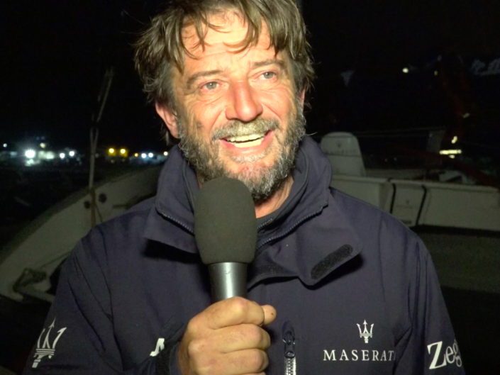 Maserati Multi 70 - CA 500 - Interview after the arrival
