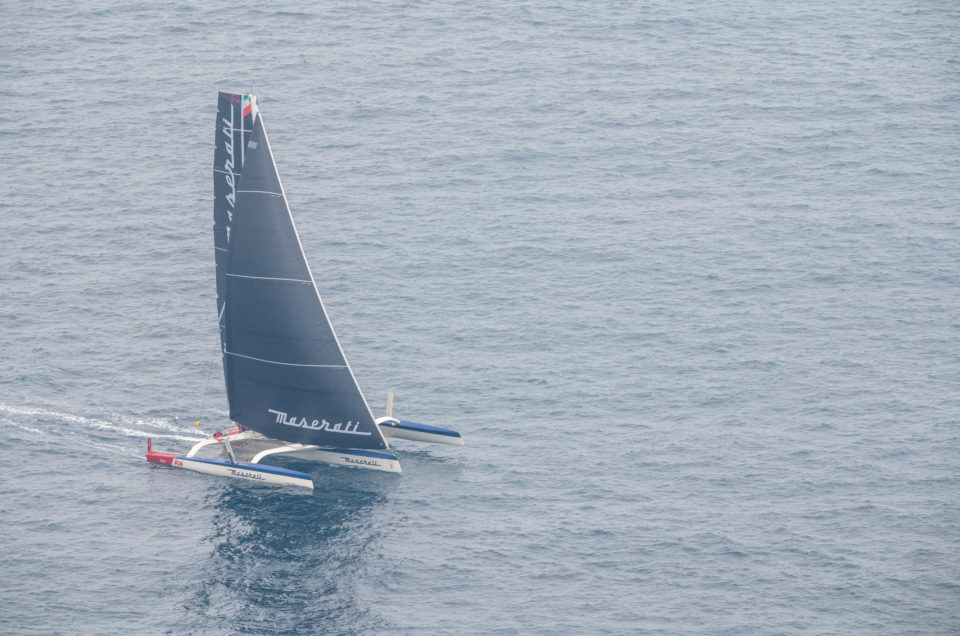 Difficult route for Maserati Multi 70