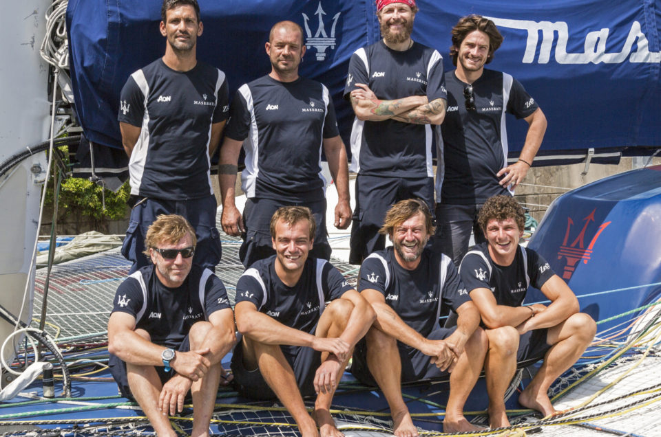 Less than 24 hours before the Hong Kong to Vietnam Race for Maserati Multi 70