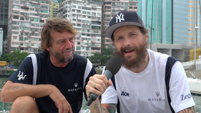 Maserati Multi 70 - Maserati Multi 70 - Giovanni Soldini and Lorenzo Jovanotti on the situation in the Pacific Ocean