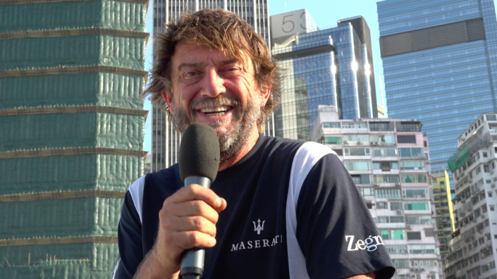 Maserati Multi 70 - Hong Kong to Vietnam Race - Interview before the start