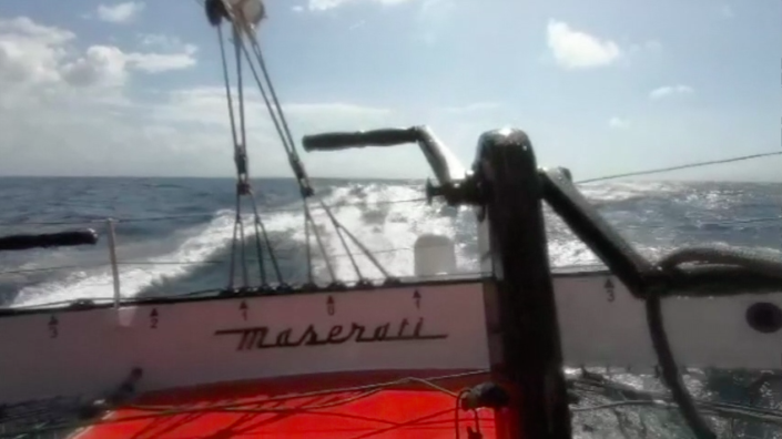Maserati Multi 70 - Delivery to Cape Town - In the Indian Ocean