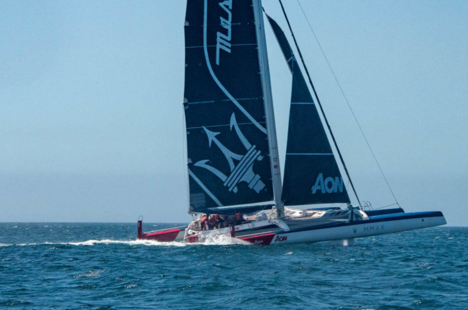 The head-to-head between the two trimarans continues