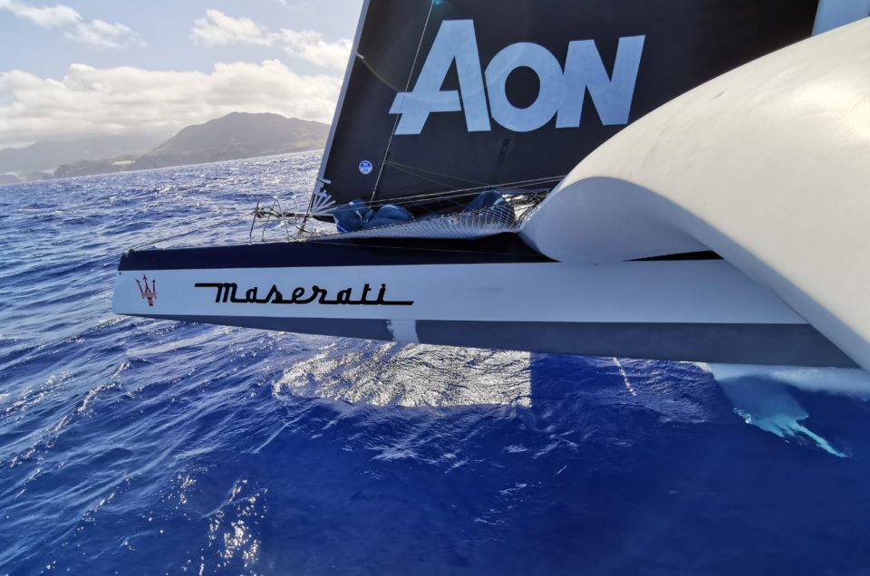 Maserati Multi 70 gets closer to Argo and PowerPlay west of Guadeloupe