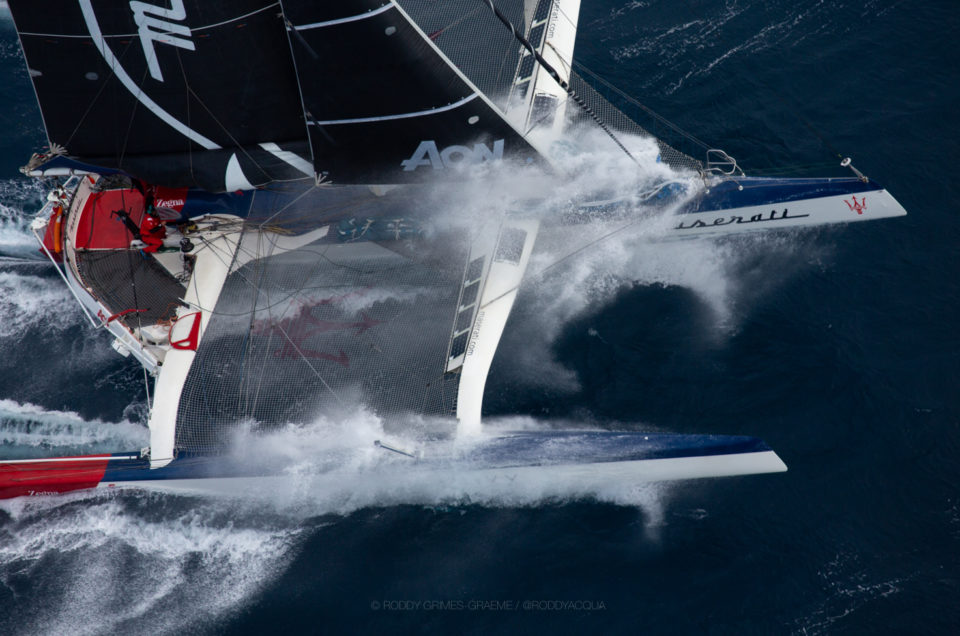 Maserati Multi 70 crossed the finish line of the 3rd race in first place