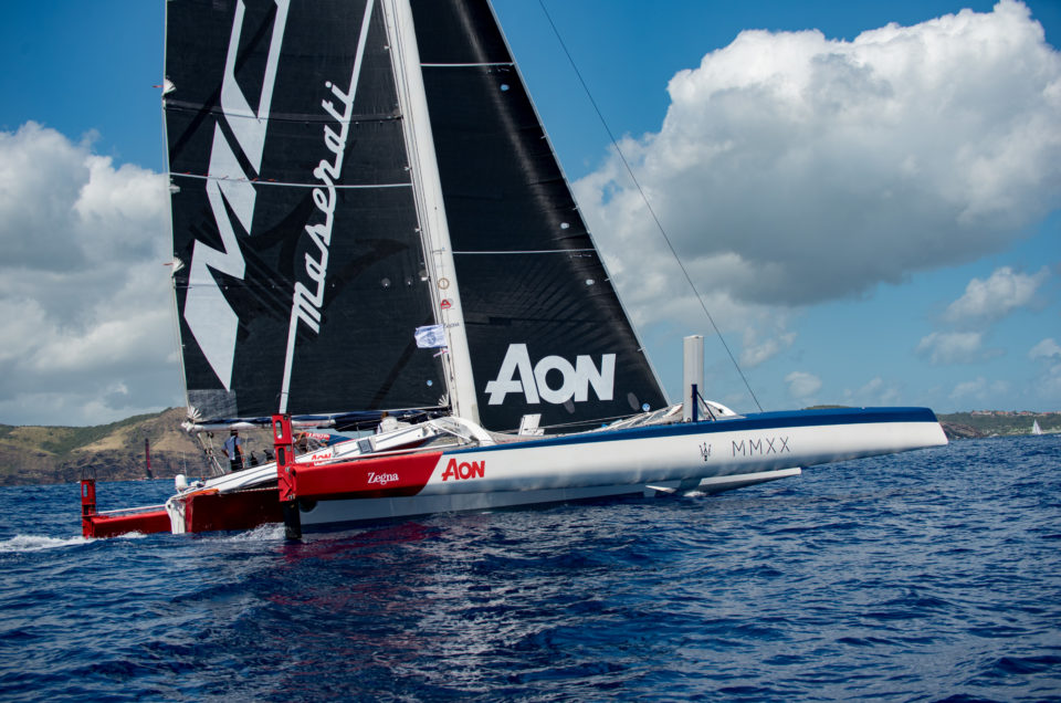 Maserati Multi 70 is North of Saint Martin